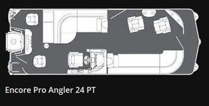 2017 Manitou 24 VP Encore Pro Angler PT Edmonton Edmonton Area image 1