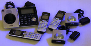 3-Handset DECT Cordless Phone with Answering System and CID