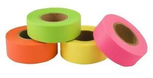 "Fluorescant Flagging Trail Tape - 1-3/16"" x 150' Rolls-New Stock"