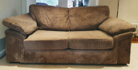 DELIVERY INCLUDED VGC jumbo corduroy 2 seater sofa, sofa bed