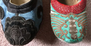 Antique Chinese Footwear (2 pairs)