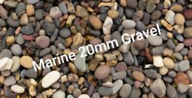 Decorative gravel aggregates cheap marine 20mm beach