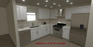 Solid Wood Kitchen Cabinet on sale