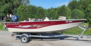 2012  - 16'  Boat with 50 HP Yamaha + Trailer - asking $11,500