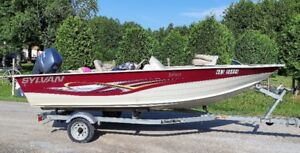 2012  - 16'  Boat with 50 HP Yamaha + Trailer - asking $11,400
