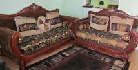 Antique Floral Couch/Loveseat/Armchair