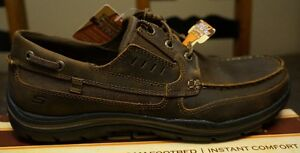 NIB Skechers Men's Expected Gembel Boat Shoe - Brown - Size 12