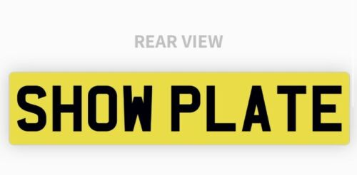 Car Parts - Single Rear Yellow Show Custom Number Plates NOT Road or MOT Legal Compliant Car