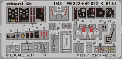 Eduard Accessories 49822 - 1:48 Ki-61-Id For Tamiya - Ätzsatz - Neu