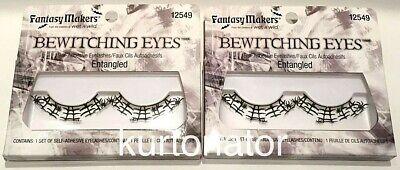 2x Fantasy Makers Bewitching Eyes ENTANGLED Eyelashes NEW Halloween Spider - Halloween Spider Eyelashes