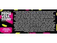 2017 Primavera Sound Barcelona VIP festival full pass x2.