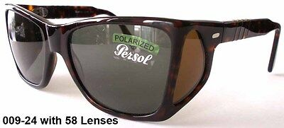 NEW PERSOL 009 24 SUNGLASSES - TORTOISE / POLARIZED GREY- RARE