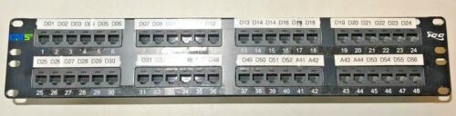 ICC Enhanced CAT5e 48 Port Patch Panel PC MAC Networking Cat6 Switch Router