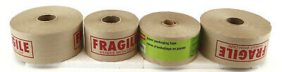 4 New Rolls Of Paper Packaging String Mailing Tape Gummed Adhesive With Moisture