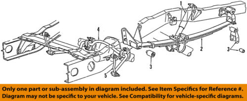 Details about FORD OEM Rear Suspension-Shackle F87Z5776AA