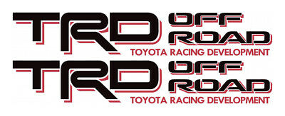 2003 TOYOTA TRD OFF ROAD Decals Tacoma Sticker PAIR truck bedside Red Black N2