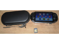 Sony PS Vita With 1 Game And Carry Case