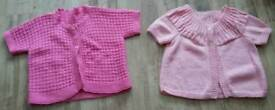 Knitted short sleeved cardigans approx 6-7 yr