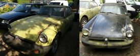 Pair of MGB GT Project Restoration Classic Barn Find