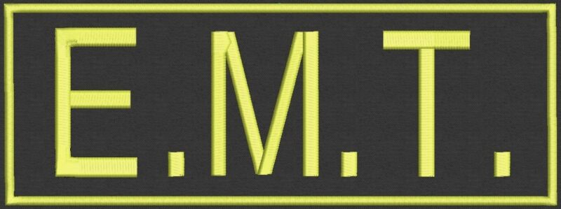 """Extra Large EMT Custom Embroidered tag, badge, Patch - Customize it! 11""""x4"""""""