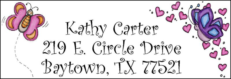 ~SURROUNDED BY BUTTERFLIES & HEARTS~  Address Labels!