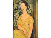 "LARGE MODLIGIANI ""Woman with Yellow Dress"" PRINT FROM TATE MODERN: NEVER USED"