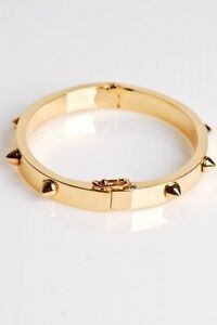 CC Skye Mini Spike LOVE Bracelet in Gold