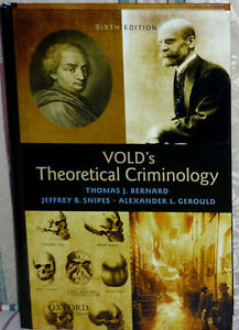 VOLD's Theoretical Criminology: Excellent Condition: Hardcover