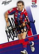 Newcastle Knights Signed