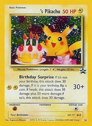 birthday pikachu pokemon  ebay, Birthday card