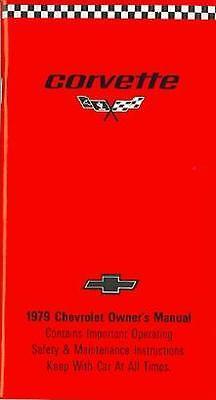 1979 79 Corvette Owners Manual