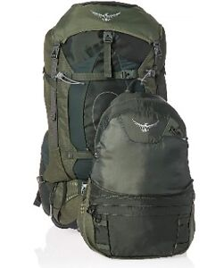 URGENT NEW BACK PACK GREEN OSPREY LIFE WARRANTLY AETHER 60L