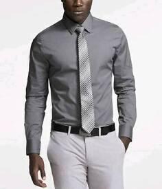 "Mens 17.5"" grey shirt 5% Lycra easy to iron £5 each"