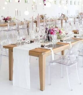 Ghost chair hire Bentwood and tiffany chair hire venue
