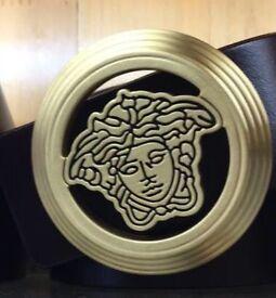 Medusa Head Round Brass Buckle Atlantis
