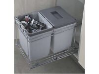Hafele pull out waste bin system.