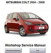 Mitsubishi Colt Workshop Manual