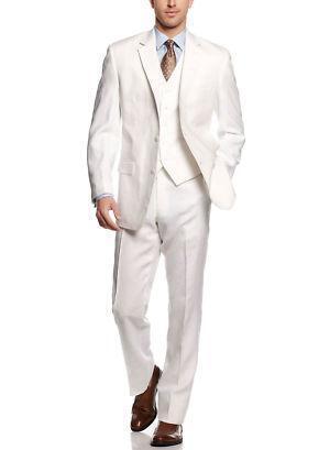 White Linen Pant Suit | eBay