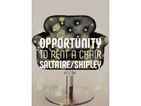 Hairdresser chair for rent
