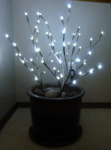 Festive pot with lights