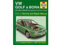 HAYNES VW GOLF & BORA 1998 - 2000 PETROL & DIESEL