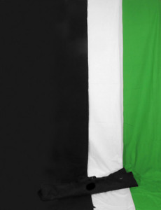 Black, White, Chroma Green Muslins backgrounds Photography video