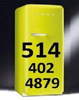 Refrigerateur Reparation 514-402-4879 Washer Fridge Repair MTL