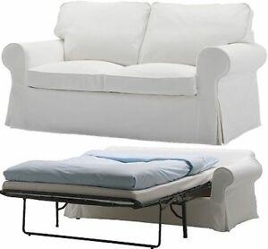 Ikea Ektorp Sofabed cover Blekinge White 2 seat sofa bed slipcover New NIP