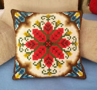 Needlepoint (Bargello Stitch) PILLOW / COUSSIN - Hand Crafted