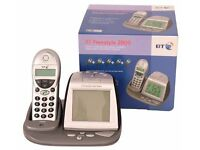 BT Freestyle 2000 Digital Cordless Handset and Alarm Clock Radio Charger in Box with Instructions