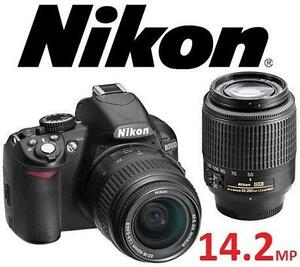NEW NIKON D3100 DSLR CAMERA KIT with 18-55mm and 55-200mm Lens - ELECTRONICS - DIGITAL SLR CAMERAS 105868314