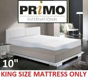 "NEW PRIMO 10'' MEMORY FOAM MATTRESS kgyx-1758 197255945 Primo International Capri 10"" Gel-Infused KING SIZE"