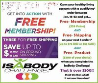Isagenix - Free Membership Cash Rebates and Shipping!