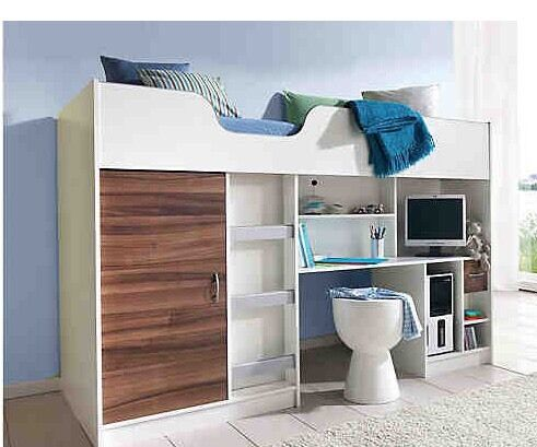 hochbett inkl schreibtisch und schrank in m nchen laim bett gebraucht kaufen ebay. Black Bedroom Furniture Sets. Home Design Ideas